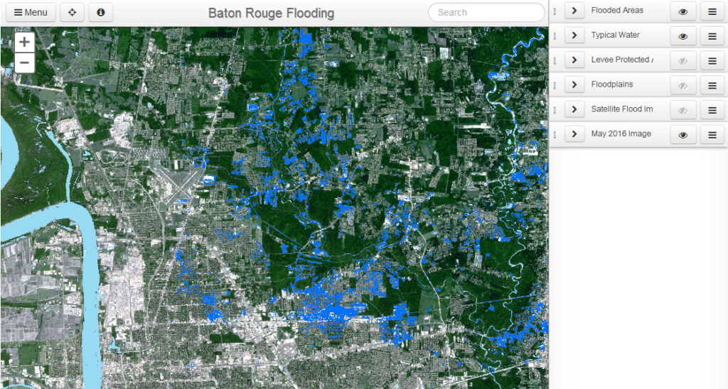 Baton Rouge Flooding Map