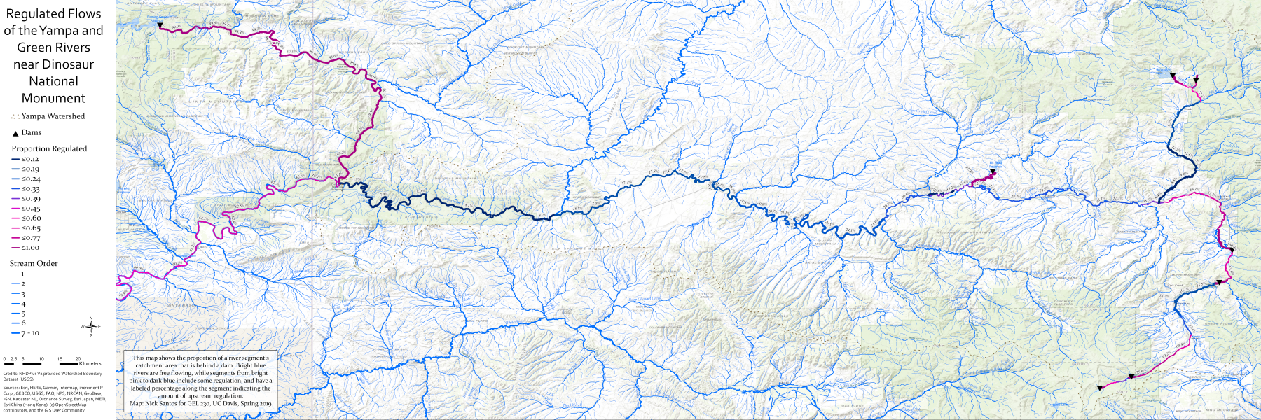 Low-resolution print layout of the Yampa-Green Flow Regulation Map