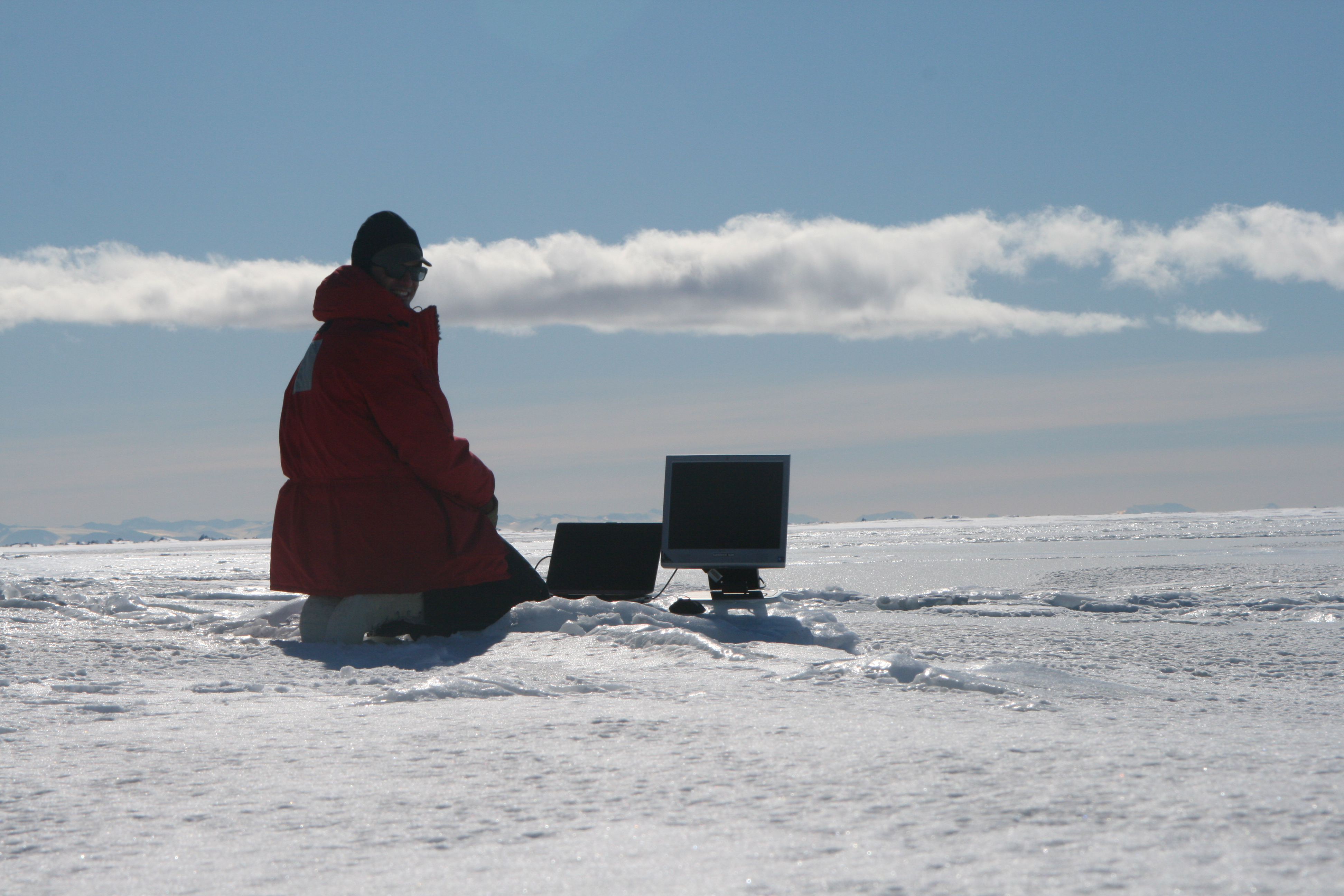 Inaccurate simulation of antarctic field work